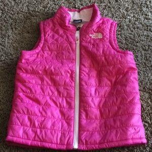 North Face Pink Vest sz 5